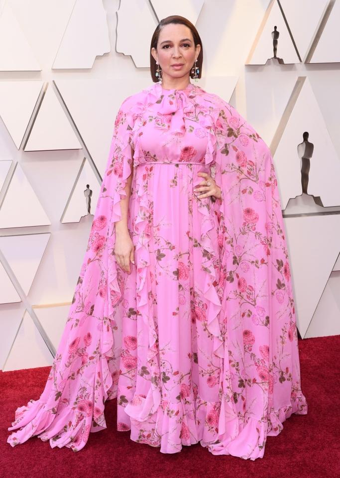 Maya Rudolph, pink oscars dress