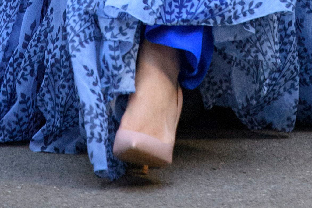 meghan markle, morocco, heels