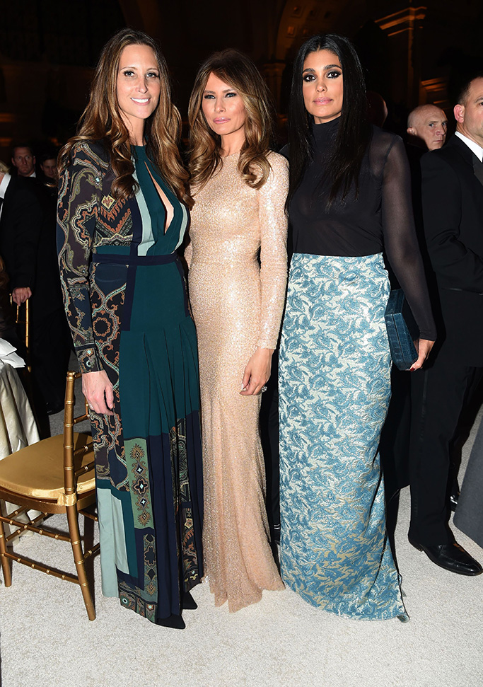 Stephanie Winston Wolkoff, Melania Trump, Rachel RoyCandlelight dinner, Washington DC, USA - 19 Jan 2017