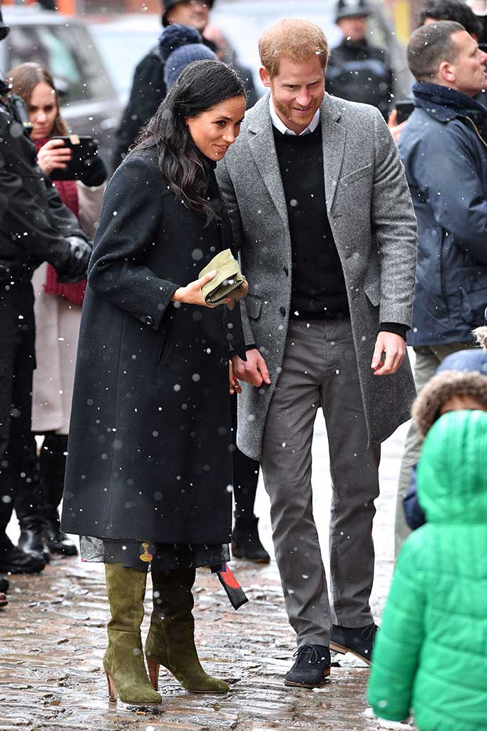 Meghan Markle and Prince Harry in Bristol.