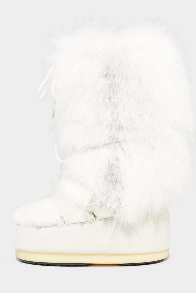 Yves Salomon X Moon Boot x Saga Furs
