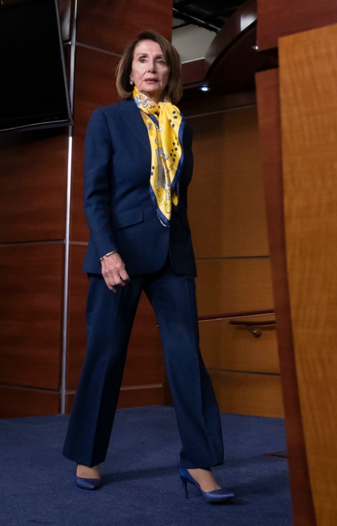 nancy pelosi shoes, government shutdown