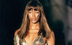 Naomi Campbell, versace, 1990s,Neville Marriner/