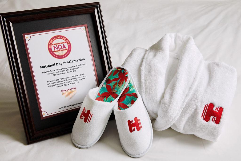 Hotels.com's National Slipper Day certification