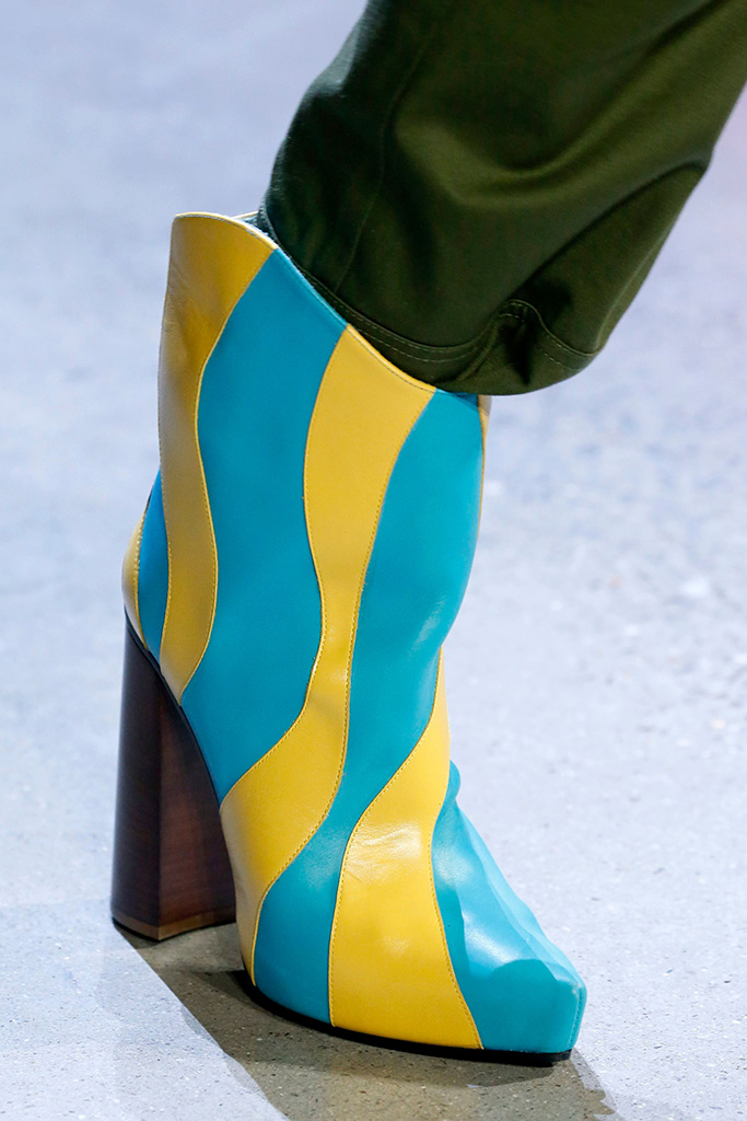 Model on the catwalk, shoe detailPrabal Gurung show, Detail, Fall Winter 2019, New York Fashion Week, USA - 10 Feb 2019