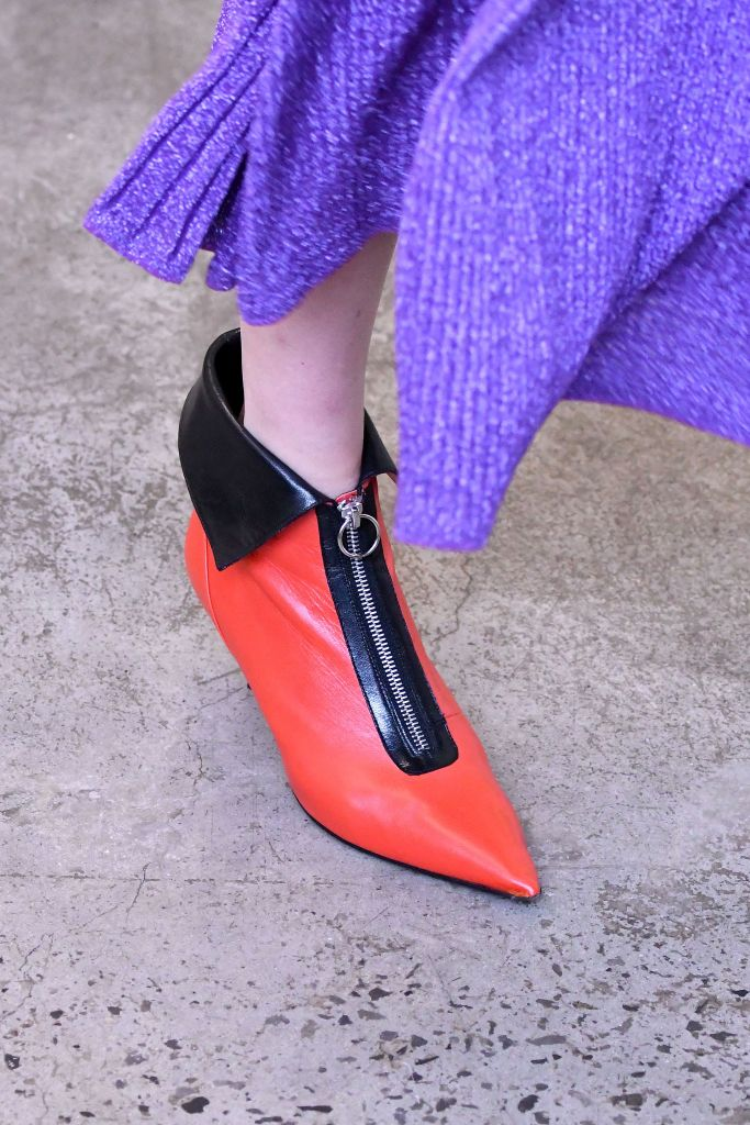 Model on the catwalk, shoe detailRachel Comey show, Runway, Fall Winter 2019, New York Fashion Week, USA - 06 Feb 2019