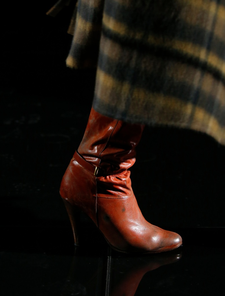 Model on the catwalk, shoe detailMarc Jacobs show, Detail, Fall Winter 2019, New York Fashion Week, USA - 13 Feb 2019