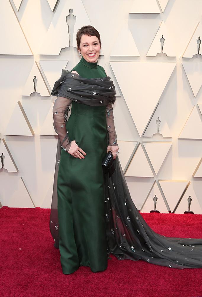 Olivia Colman, 91st Annual Academy Awards, Arrivals, Los Angeles, USA - 24 Feb 2019Wearing Prada, Custom