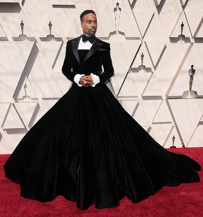 Billy Porter, christian siriano, red carpet, celebrity style, gown, 91st Annual Academy Awards, Arrivals, Los Angeles, USA - 24 Feb 2019