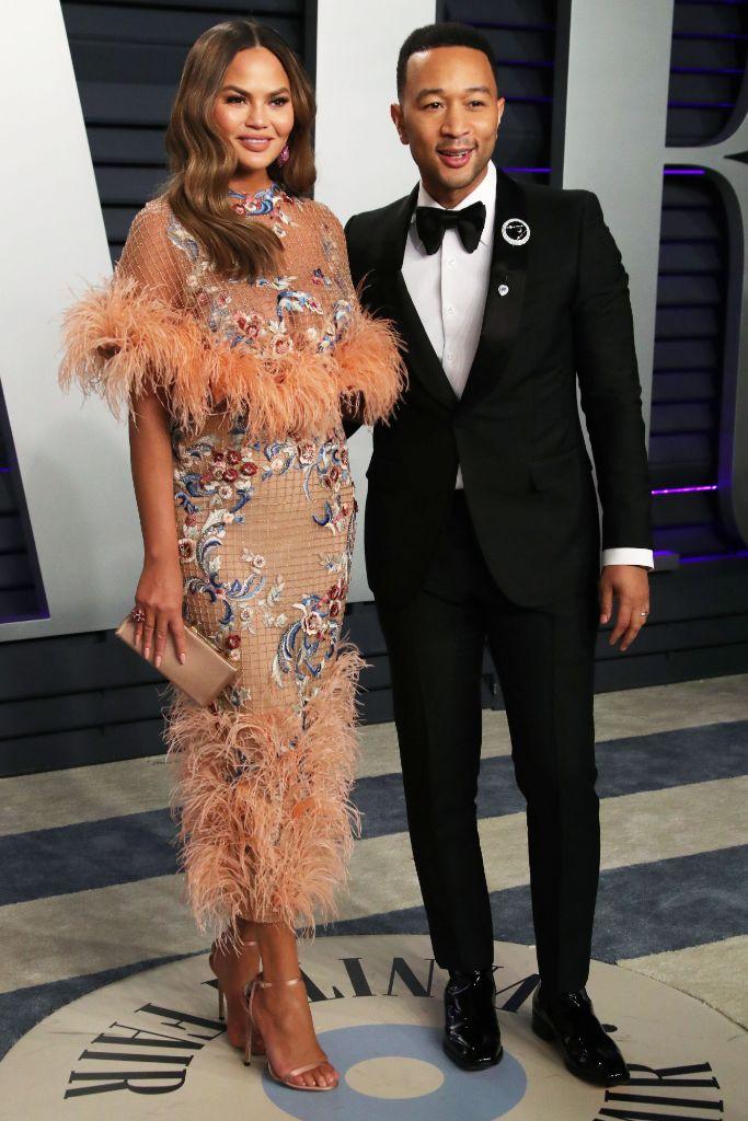Chrissy Teigen and John Legend, vanity fair oscar party