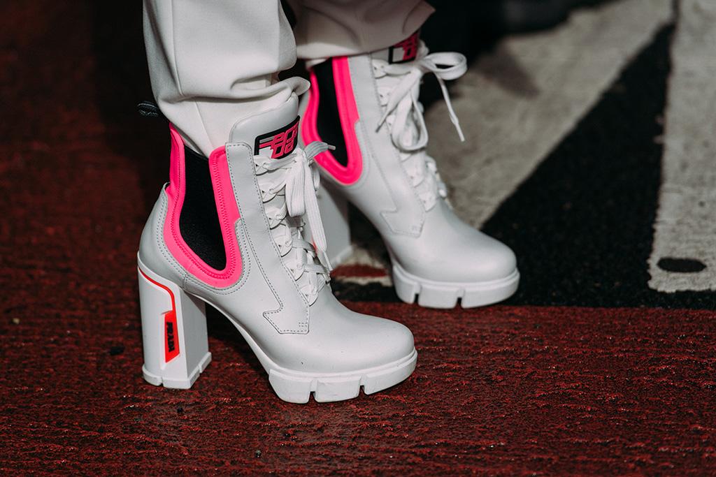 Laureen Uy, booties, street style, nyfw, Prada