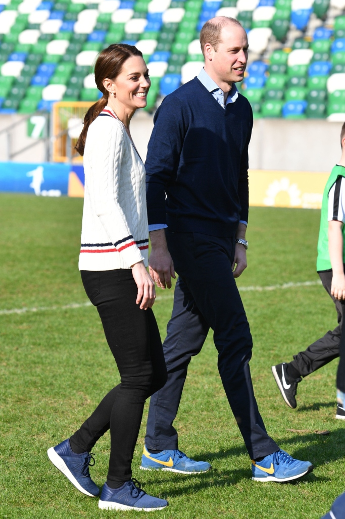 Prince William and Kate Middleton, new balance, nike