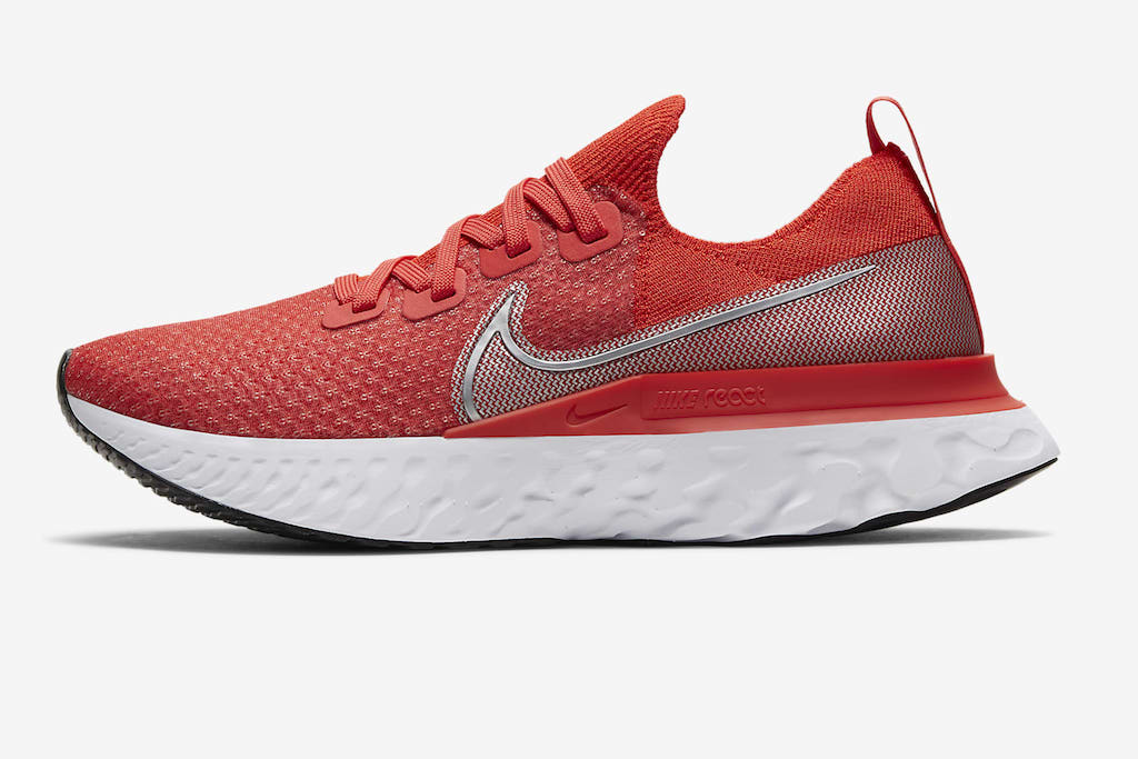 Nike React Infinity Run Flyknit, Red Sneakers for Women