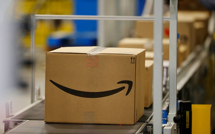 This, photo shows boxes on a conveyor belt during a tour of the Amazon fulfillment center in Aurora, Colo. The explosion in online shopping has led to porch pirates and stoop surfers swiping holiday packages from unsuspecting residents. The cops in one New Jersey city are trying to catch the thieves with some trickery of their ownPorch Thefts Sting, Aurora, USA - 03 May 2018
