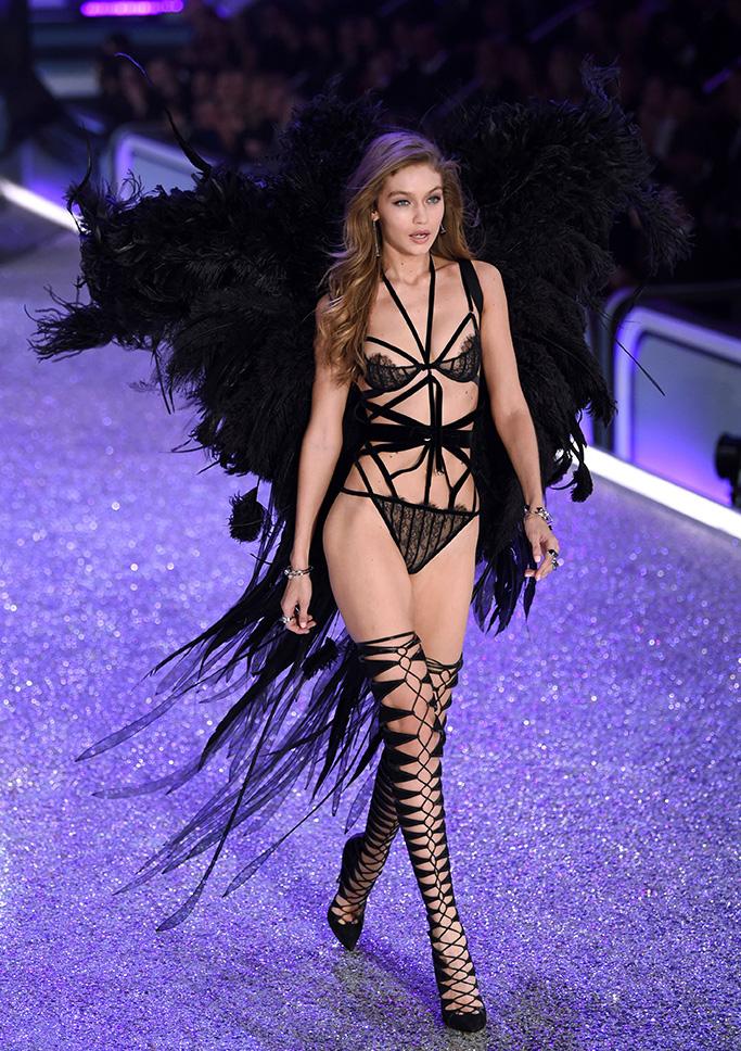 Gigi Hadid on the catwalkVictoria's Secret Fashion Show, Runway, Grand Palais, Paris, France - 30 Nov 2016