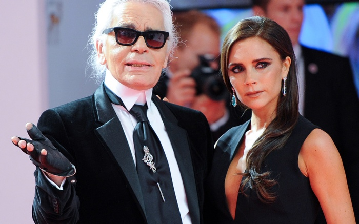 German Designer Karl Lagerfeld (l) and British Designer Victoria Beckham (r) Attend the 65th Bambi Award Ceremony at the Stage Theater in Berlin Germany 14 November 2013 the Burda Media Prize Are Awarded in 17 Categories at the Stage Theater Germany BerlinGermany Bambi Awards 2013 - Nov 2013