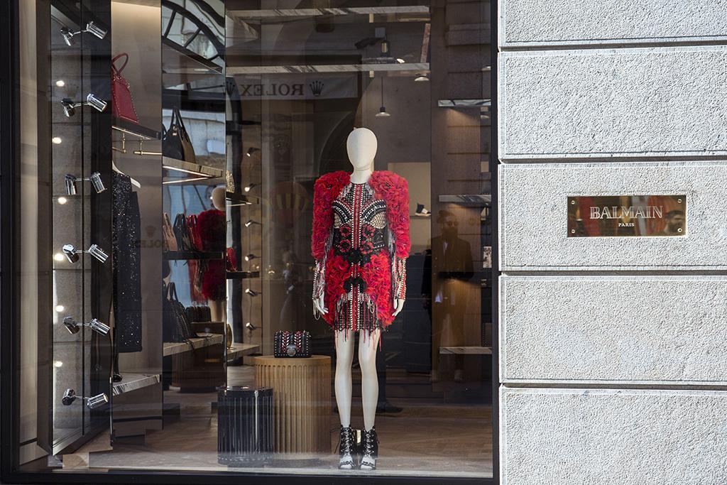 Atmosphere The Balmain Flagship Store, Milan, Italy - 14 Apr 2018