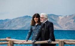 Karl Lagerfeld and Virginie Viard on
