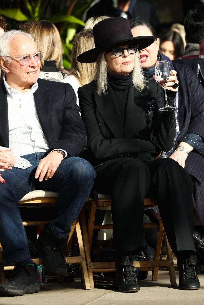 Stewart Resnick and Diane Keaton, rodarte fall 2019 show, front row