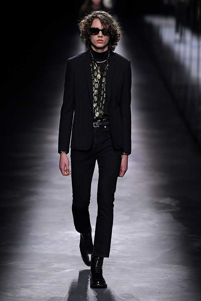 A men's look from Saint Laurent fall '19