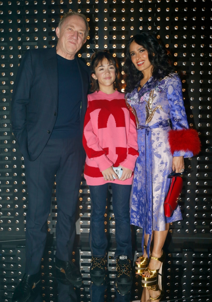 salma hayek family, gucci fall 2019 front row