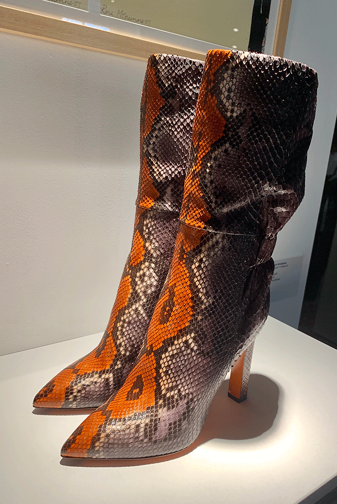 Santoni fall '19 snakeskin boot.