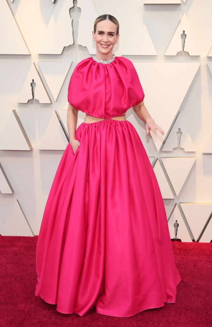 Sarah Paulson, oscars red carpet