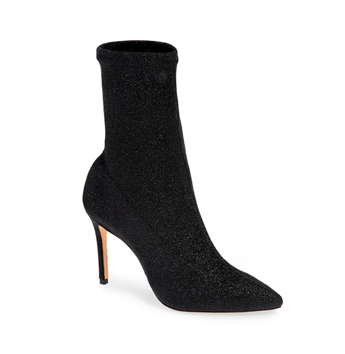 Schutz Sciarpe Glitter Sock Booties
