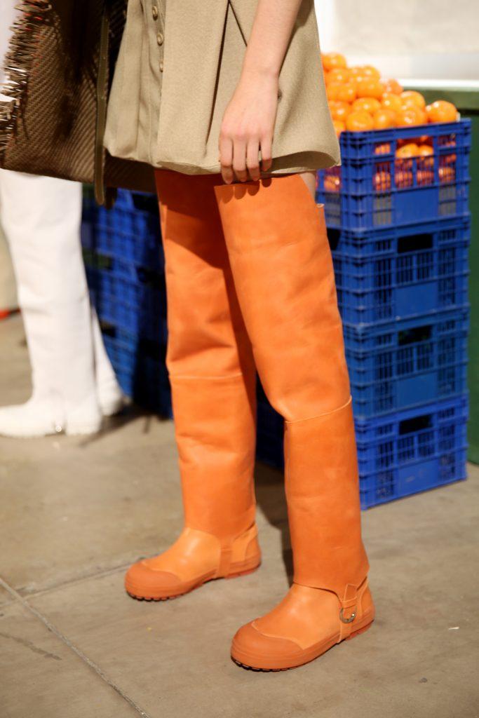 Model backstage, shoe detailJacquemus show, Backstage, Fall Winter 2019, Paris Fashion Week, France - 25 Feb 2019