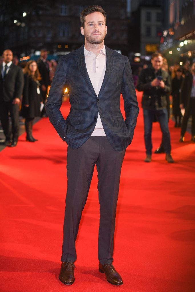 Armie Hammer'Call Me By Your Name' premiere, BFI London Film Festival, UK - 09 Oct 2017