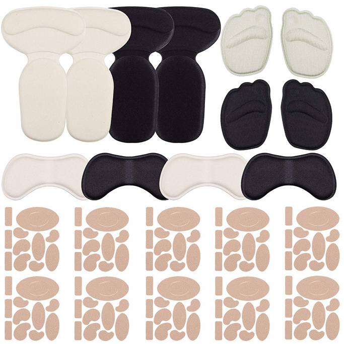 Siquk 110-Piece Flannel Heel Pad Sticker