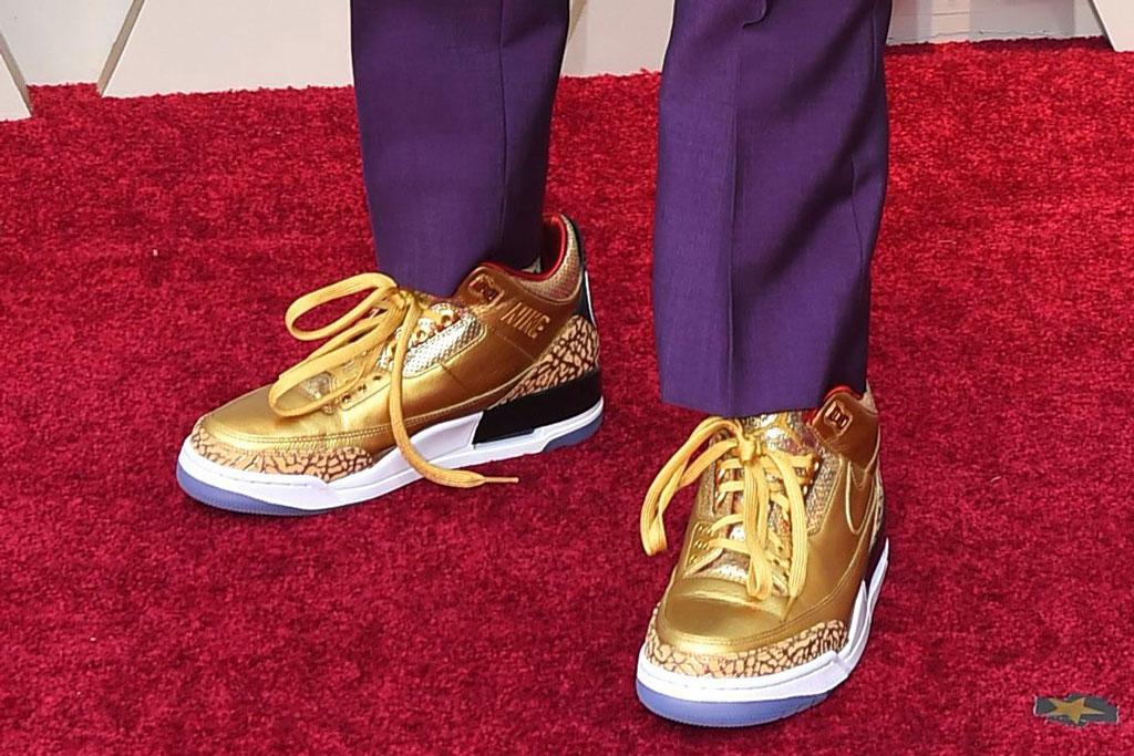 spike lee, jordan brand, sneakers, red carpet, oscars, academy awards