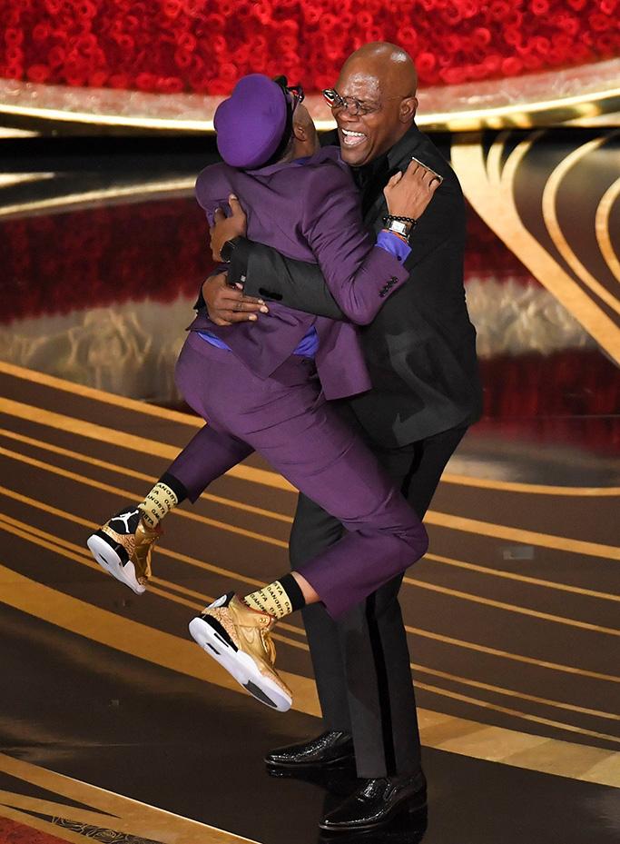 Spike Lee, samuel l jackson, oscars, Best adapted Screenplay - ÔBlacKkKlansmanÕ and Samuel L. Jackson91st Annual Academy Awards, Show, Los Angeles, USA - 24 Feb 2019