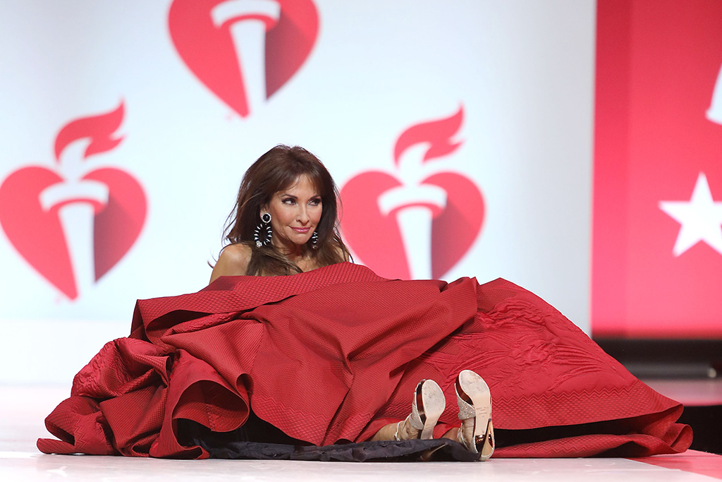 Susan Lucci, runway fall, wipeout, tumble, on the catwalk115th Annual Heart Truth Go Red for Women Red Dress Collection 2019 - Runway, New York, USA - 07 Feb 2019