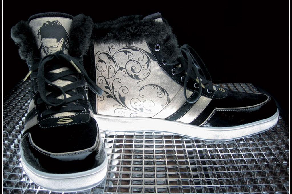 2008 grammy awards, sneakers, t-pain, custom