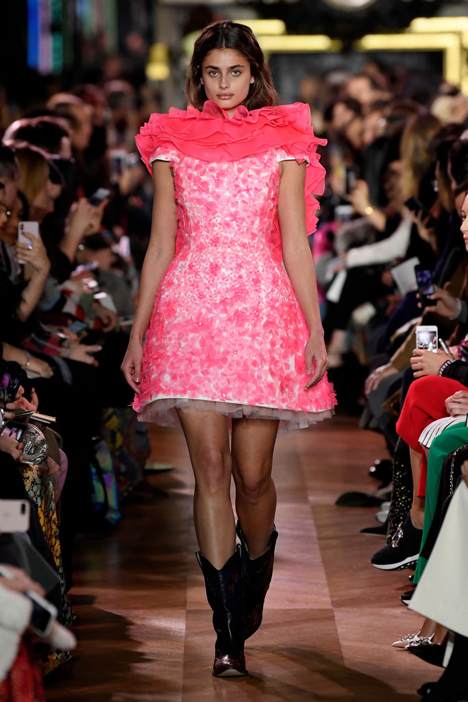 Schiaparelli , taylor hill, runway, couture, western boots