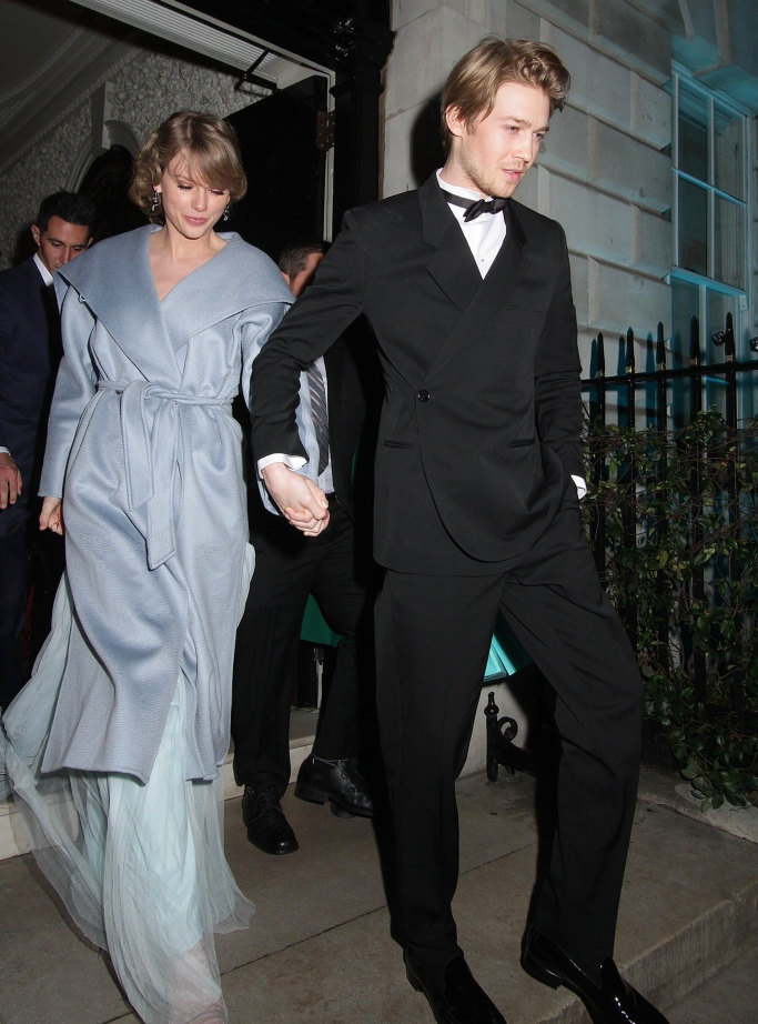 taylor swift and joe alwyn, bafta party