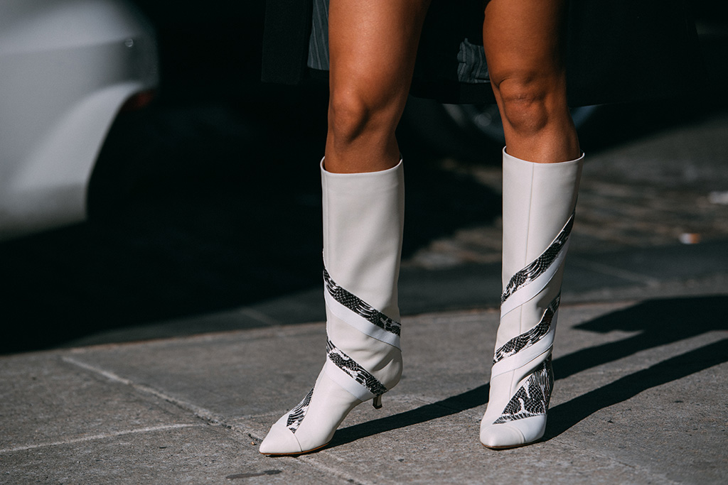 tibi, boots, street style, nyfw, fall 2019, camila coehlo