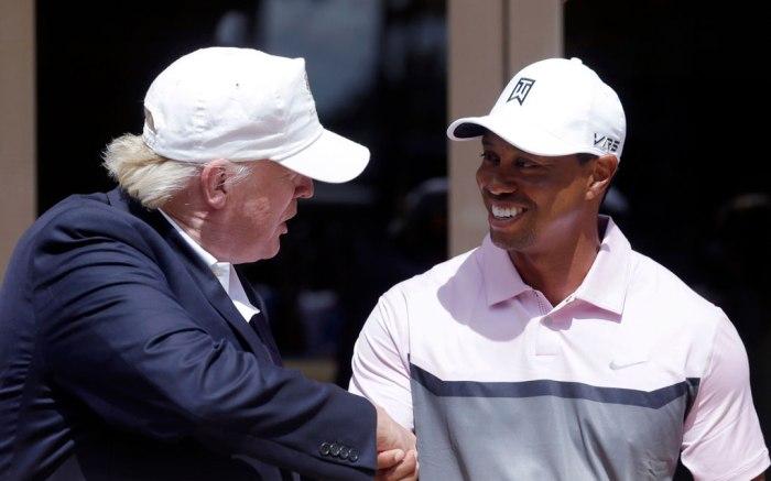 tiger woods, donald trump, golf course