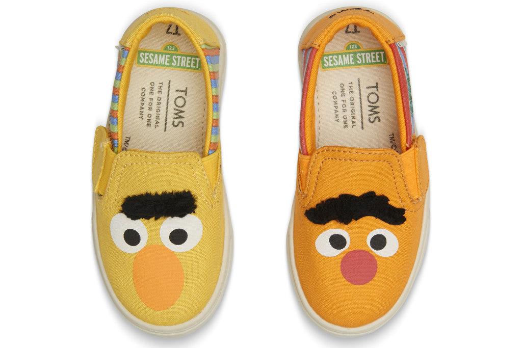 toms shoes, sesame street, bert, ernie