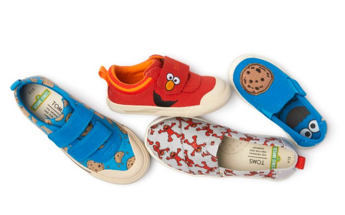toms shoes, sesame street