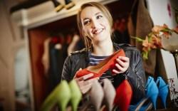 high heels, woman shopping