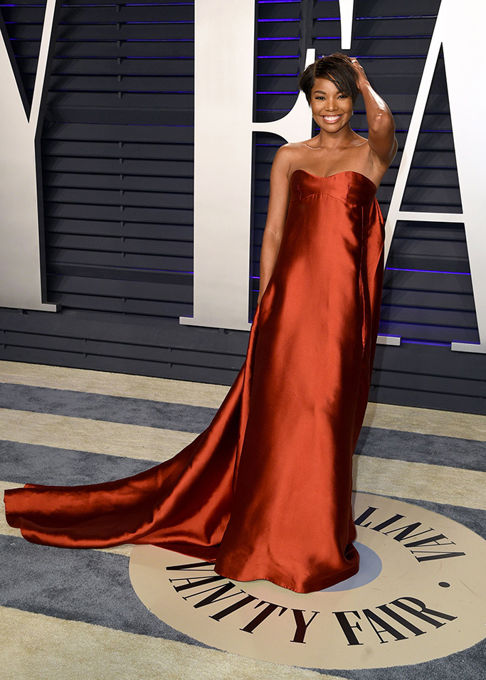 Gabrielle Union, valentino, Vanity Fair Oscar Party, Arrivals, Los Angeles, USA - 24 Feb 2019