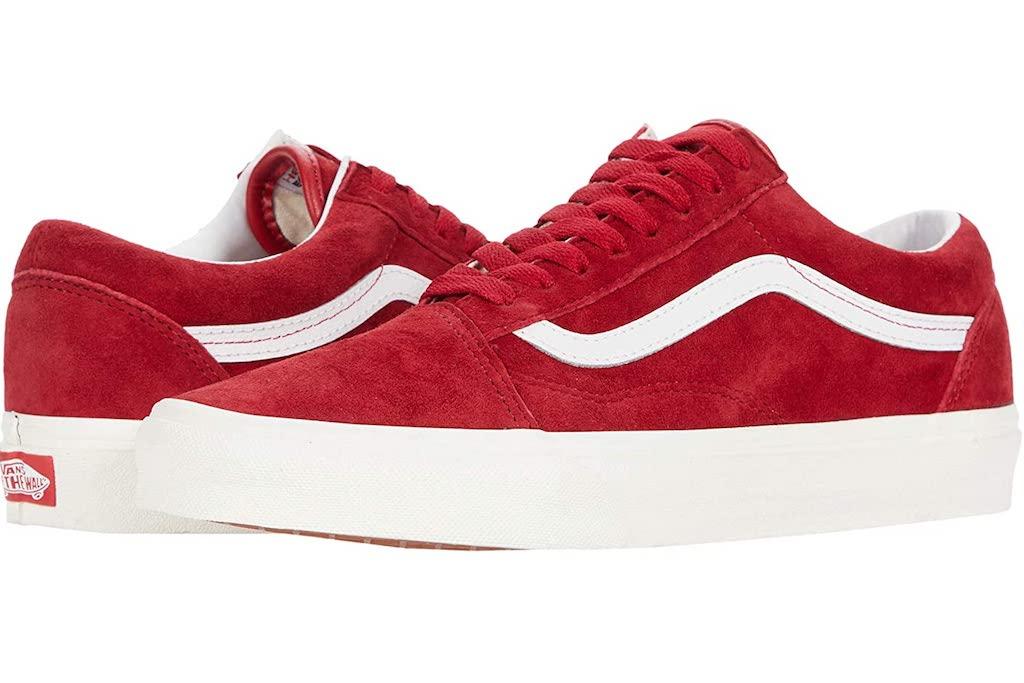 Red Sneakers for Women, Vans Old Skool