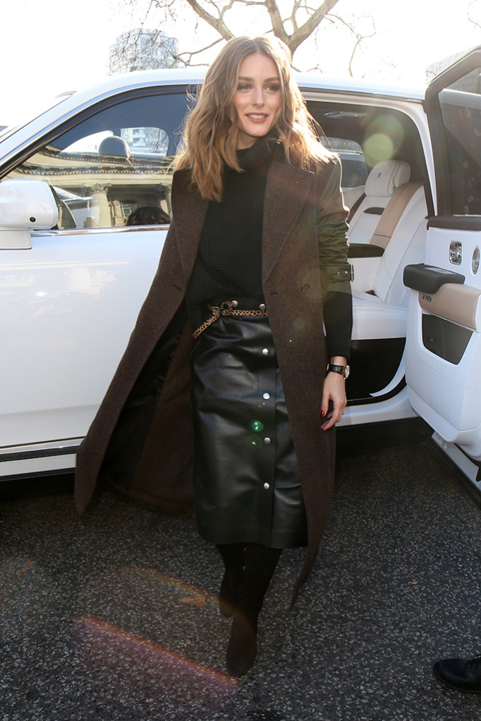 Olivia PalermoVictoria Beckham show, Arrivals, Fall Winter 2019, London Fashion Week, UK - 17 Feb 2019
