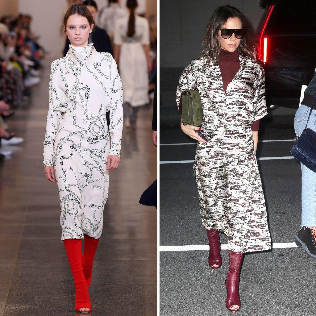 victoria beckham, runway, london fashion week, nyc, peep toe boots