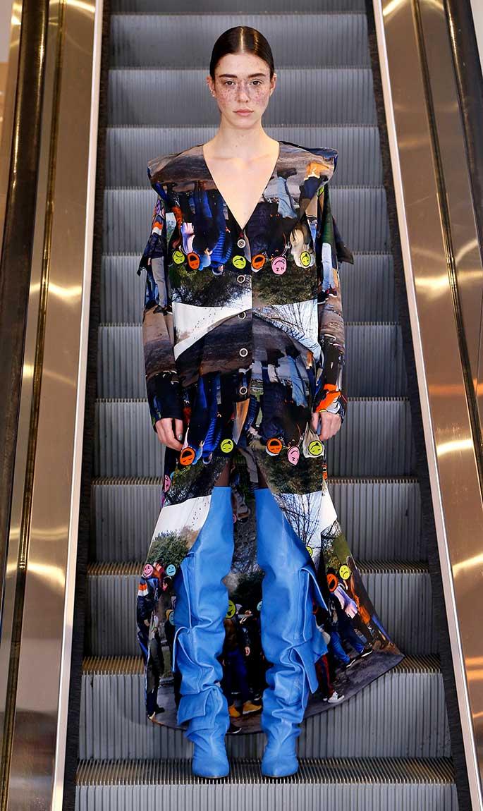 Natasha Zinko, London Fashion Week, fall '19.
