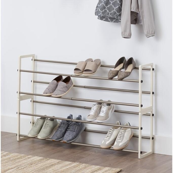 Mercury Row 2-Tier Shoe Rack, shoe shelves