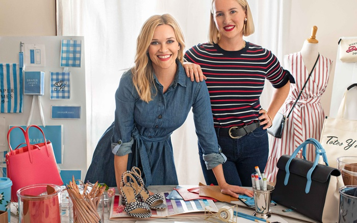 Draper James founder Reese Witherspoon (L) and head of design Kathryn Sukey.