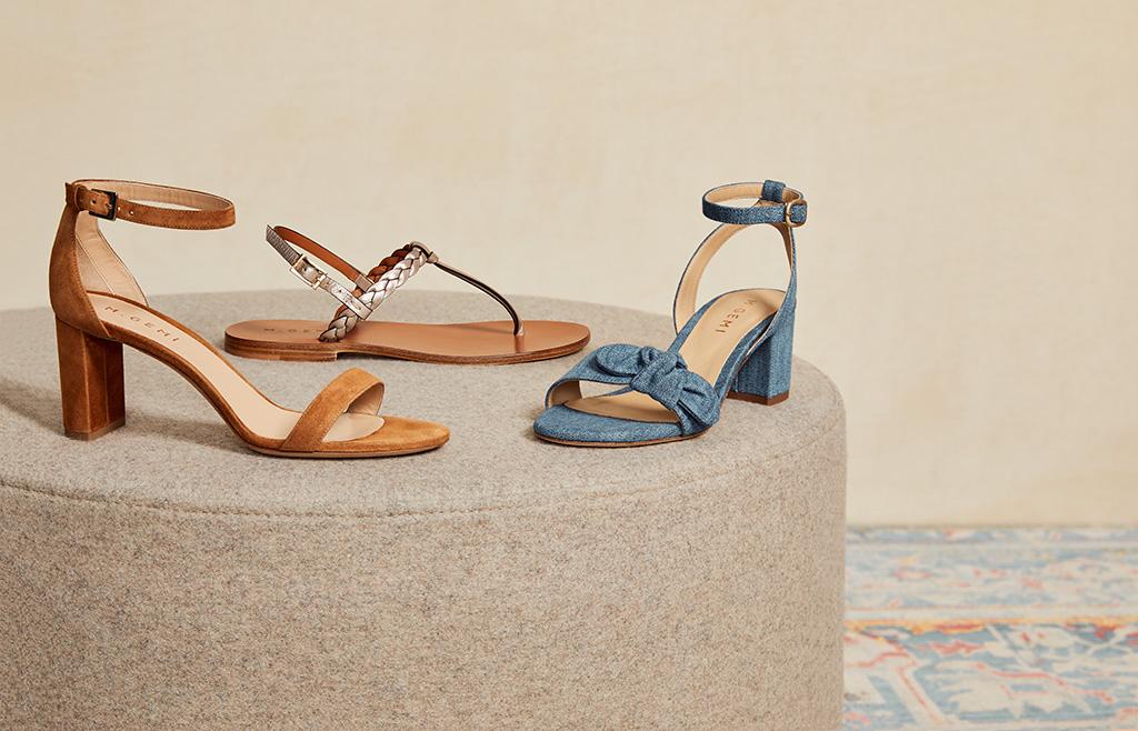 Draper James and M.Gemi's shoes: the Pilone, the Treccia and the Risata.